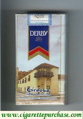 Discount Derby Cordoba 100s cigarettes soft box