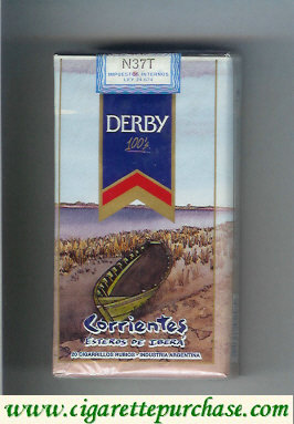 Discount Derby Corrientes 100s cigarettes soft box