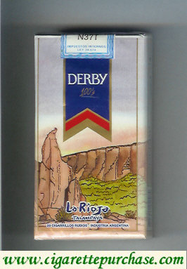 Discount Derby La Rioja 100s cigarettes soft box