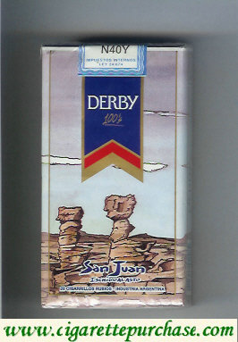 Discount Derby San Juan 100s cigarettes soft box