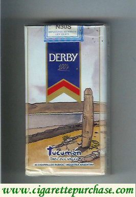 Discount Derby Tucuman 100s cigarettes soft box