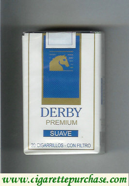 Discount Derby Premium Azul cigarettes soft box