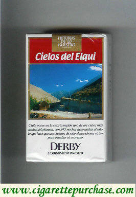 Discount Derby Cielos del Elqui King Size cigarettes soft box