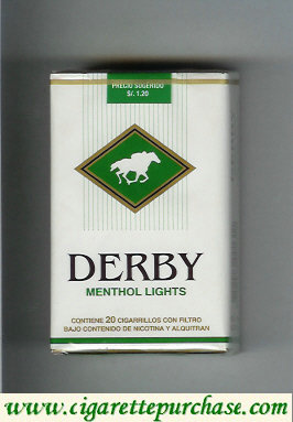 Discount Derby Menthol Lights cigarettes soft box
