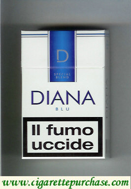 Diana Special Blend Blue cigarettes hard box