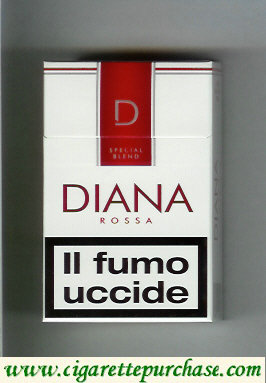 Diana Special Blend Rossa cigarettes hard box