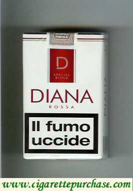 Discount Diana Special Blend Rossa cigarettes soft box