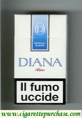 Diana Special Blend Slims 100s cigarettes hard box
