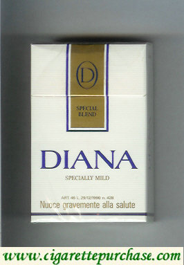 Diana Special Blend Specially Mild cigarettes hard box