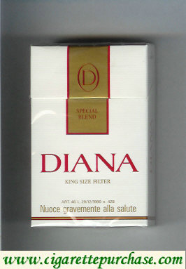 Diana Special Blend cigarettes hard box