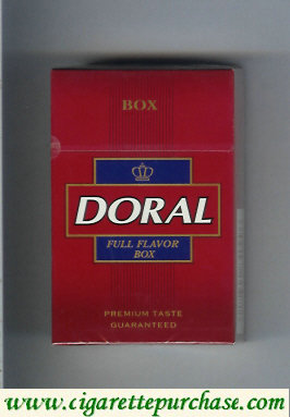 Discount Doral Premium Taste Guaranteed Full Flavor cigarettes hard box