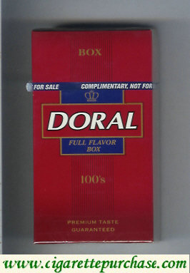 Discount Doral Premium Taste Guaranteed Full Flavor 100s cigarettes hard box