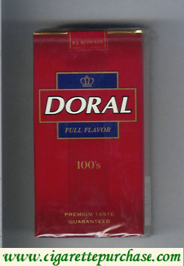 Discount Doral Premium Taste Guaranteed Full Flavor 100s cigarettes soft box