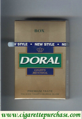 Discount Doral Premium Taste Guaranteed Lights Menthol cigarettes hard box