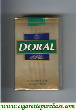 Discount Doral Premium Taste Guaranteed Lights Menthol cigarettes soft box