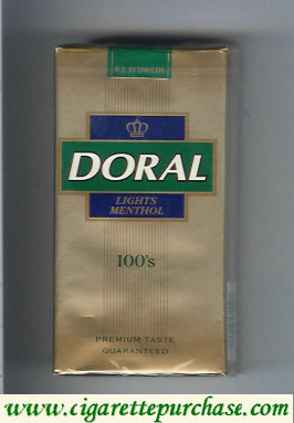 Discount Doral Premium Taste Guaranteed Lights Menthol 100s cigarettes soft box