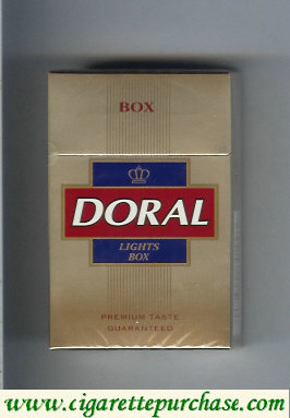 Discount Doral Premium Taste Guaranteed  Lights cigarettes hard box