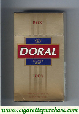 Discount Doral Premium Taste Guaranteed Lights 100s cigarettes hard box