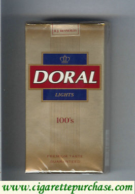 Discount Doral Premium Taste Guaranteed Lights 100s cigarettes soft box