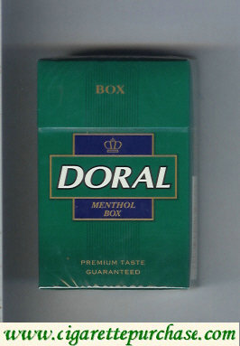 Discount Doral Premium Taste Guaranteed Menthol cigarettes hard box