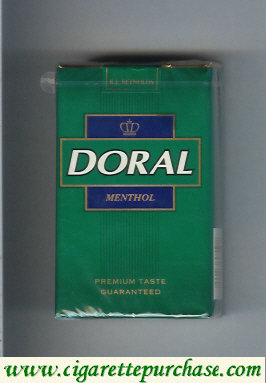 Discount Doral Premium Taste Guaranteed Menthol cigarettes soft box