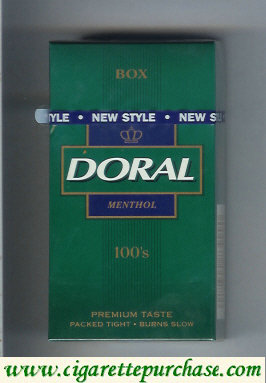 Discount Doral Premium Taste Guaranteed Menthol 100s cigarettes hard box