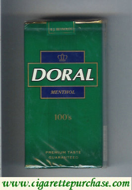 Discount Doral Premium Taste Guaranteed Menthol 100s cigarettes soft box