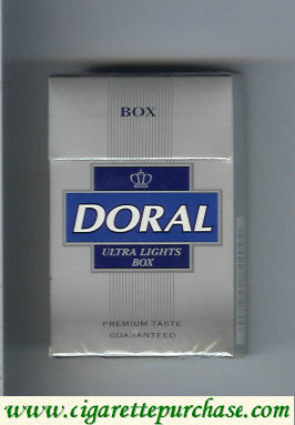 Discount Doral Premium Taste Guaranteed Ultra Lights cigarettes hard box