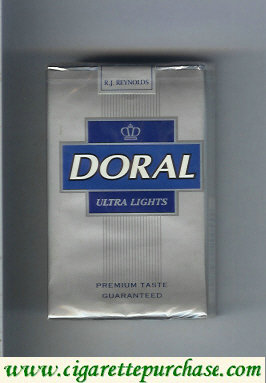 Discount Doral Premium Taste Guaranteed Ultra Lights cigarettes soft box