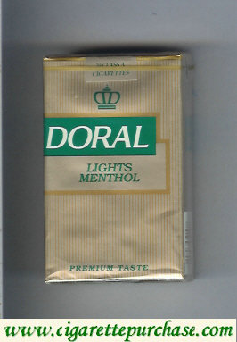 Doral Premium Taste Lights Menthol cigarettes soft box