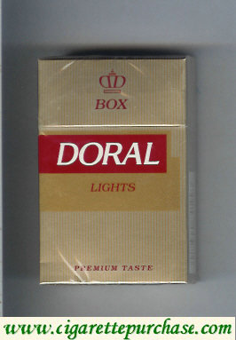 Doral Premium Taste Lights cigarettes hard box