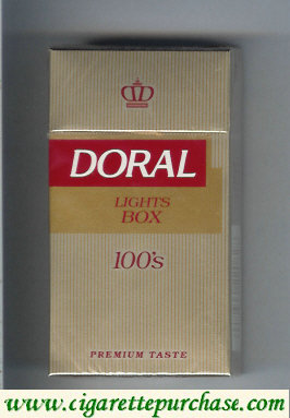 Doral Premium Taste Lights 100s cigarettes hard box