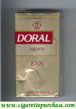 Doral Premium Taste Lights 100s cigarettes soft box