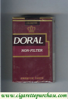 Doral Premium Taste Non-Filter cigarettes soft box