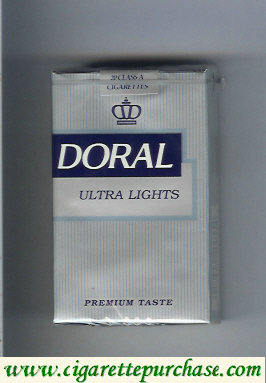 Doral Premium Taste Ultra Lights cigarettes soft box