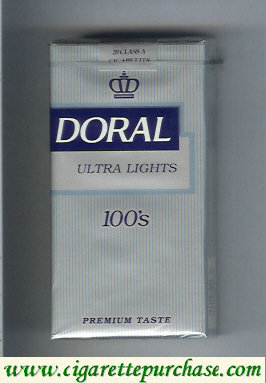 Doral Premium Taste Ultra Lights 100s cigarettes soft box