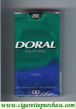 Discount Doral Splendidly Blended Menthol 100s cigarettes soft box