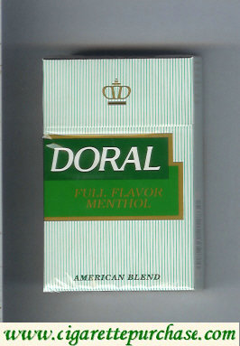 Discount Doral Full Flavor Menthol cigarettes hard box