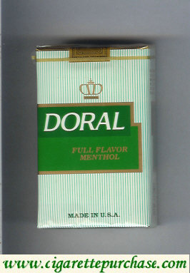 Discount Doral Full Flavor Menthol cigarettes soft box