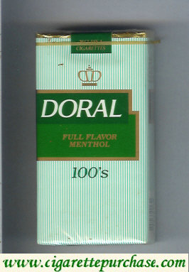 Discount Doral Full Flavor Menthol 100s cigarettes soft box