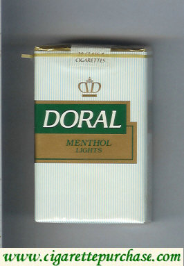 Discount Doral Menthol Lights cigarettes soft box