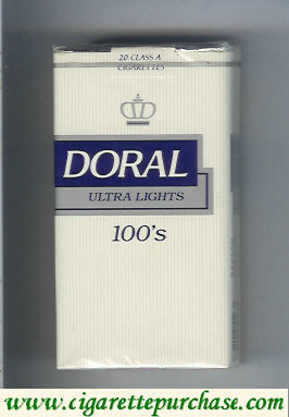 Discount Doral Ultra Lights 100s cigarettes soft box