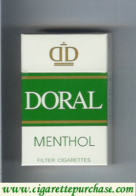 Discount Doral Menthol cigarettes hard box