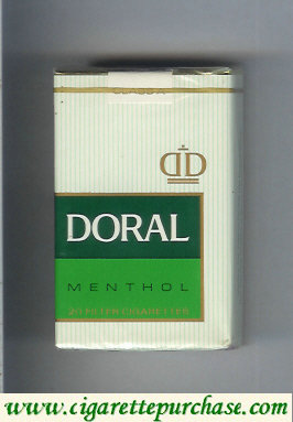Discount Doral Filter Menthol cigarettes soft box