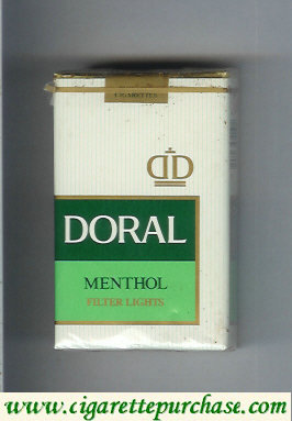 Discount Doral Filter Lights Menthol cigarettes soft box