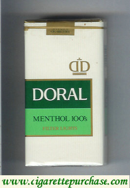 Discount Doral Filter Lights Menthol 100s cigarettes soft box