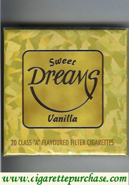 Discount Dreams Sweet Vanilla Flavoured Filter cigarettes wide flat hard
