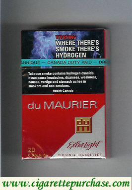 Discount Du Maurier Extra Light cigarettes hard box