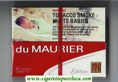 Discount Du Maurier Edition 25s cigarettes wide flat hard box