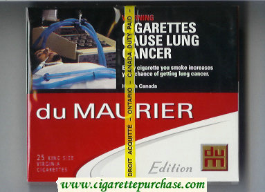 Discount Du Maurier Edition 25s King Size cigarettes wide flat hard box